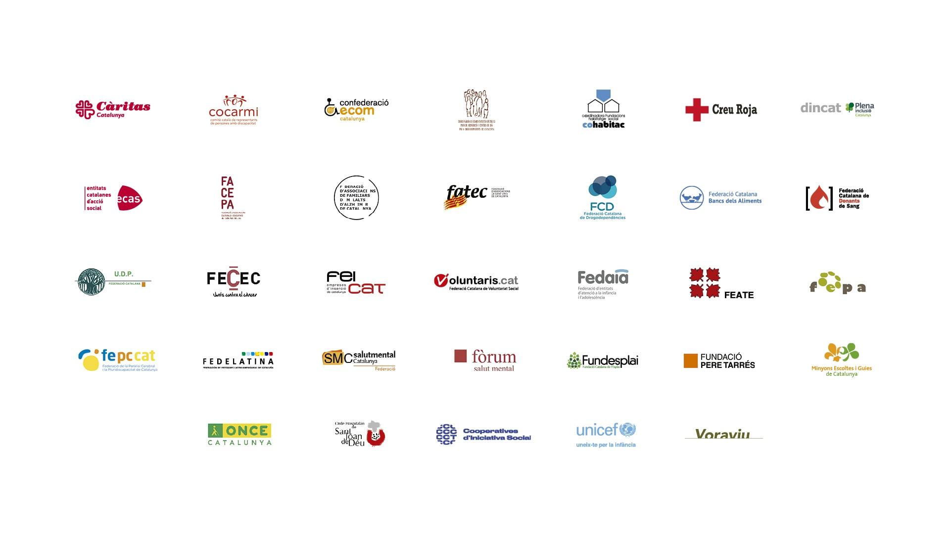 Logos Federacions Taula d'entitats